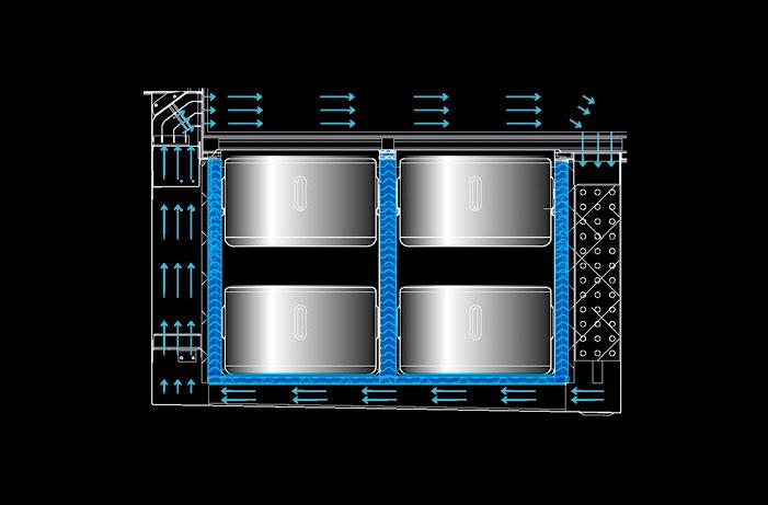 BRX _ Vista, refrigerazione glicole + ventilata